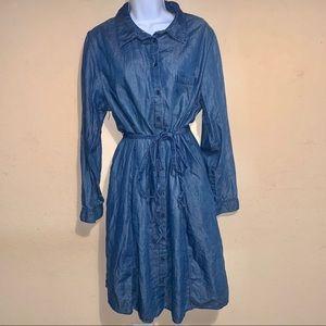 Lane Bryant chambray shirt dress size 16